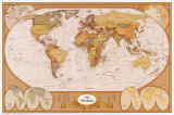 Kart over verden Posters