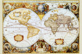 Maailman kartta Posters