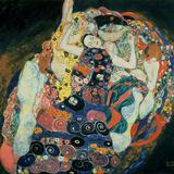 Jungfrun, 1913 Gicléetryck av Gustav Klimt