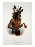 Mato-Tope, Adorned with the Insignia of His Warlike Deeds Stampa giclée di Karl Bodmer