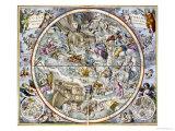 Karte von the Christian Constellations as Depicted by Julius Schiller Giclée-Druck von Andreas Cellarius