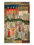 Persian Garden, 15th Century Giclée-tryk