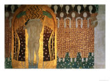 Here's a Kiss to the Whole World!, Detail of the Beethoven Frieze, 1902 Giclée-vedos tekijänä Gustav Klimt