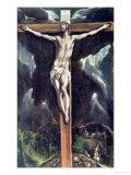 Ristiinnaulitseminen Giclée-vedos tekijänä  El Greco