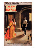 """Poster """"The Man in the Iron Mask"""" at the Adelphi Theatre, London Giclee Print by Albert Morrow"""