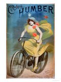Advertising for 'Humber Cycles' Lámina giclée por Jules Chéret