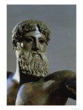 Head of Poseidon, circa 460-450 BC (Detail) Giclée-tryk