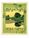 """Reproduction of a Poster Advertising the """"Modern Art"""" Review Magazine Giclee Print by Arthur Wesley Dow"""