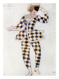 Costume Design for Harlequin, from Sleeping Beauty, 1921 Giclee Print by Leon Bakst