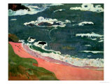 Beach at Le Pouldu, 1889 Stampa giclée di Paul Gauguin