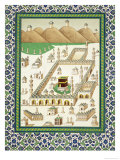 Schematic View of Mecca, Showing the Qua'Bah, from a Book on Persian Ceramics Giclée-tryk