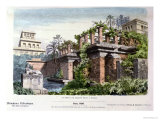 """The Hanging Gardens of Babylon, from a Series of the """"Seven Wonders of the World"""" Giclee Print by Ferdinand Knab"""