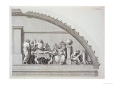 "Hippocrates Teaching, from ""A Description of the School of Surgery in Paris,"" Published 1780 Giclée-Druck"