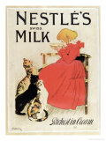 Poster Advertising Nestle's Swiss Milk, Late 19th Century Reproduction procédé giclée par Théophile Alexandre Steinlen