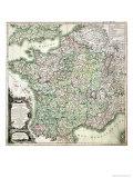 Map of France as Divided into 58 Provinces, 1765 Reproduction procédé giclée par Louis-Charles Desnos