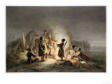 Round the Camp Fire Giclee Print by H. Kretzschmer