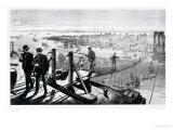 Construction of Brooklyn Bridge, New York Giclee Print