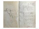 """Handwritten Pages from """"Romances Sans Paroles"""" with Crossed out Dedication to Arthur Rimbaud, 1873 Giclée-Druck von Paul Verlaine"""