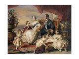 Queen Victoria and Prince Albert with Five of the Their Children, 1846 Giclee Print by Franz Xaver Winterhalter