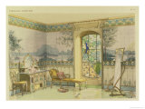 """Design for a Bathroom, from """"Interieurs Modernes,"""" Published Paris, 1900 Giclee Print by Georges Remon"""