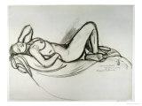 Reclining Nude, circa 1906 Giclee-trykk av Maxime Dethomas