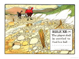 """Rule XII (V): the Player Shall be Entitled to Find His Ball..., from """"Rules of Golf"""" Giclee Print by Charles Crombie"""