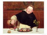 The Monk's Repast Gicléetryck av Walter Dendy Sadler