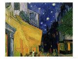 O Café Terrace na Praça do Fórum, Arles, à noite, cerca de 1888, detalhe Impressão giclée por Vincent van Gogh