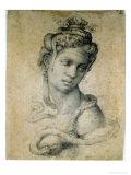 Cleopatra Giclée-tryk af Michelangelo Buonarroti,