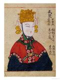 Portrait of the Empress Wu Zetian Giclée-tryk
