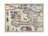 Map of the Island of Haiti, 1789 Impressão giclée