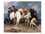The Deerstalkers' Return, 1827 Giclée-tryk af Edwin Henry Landseer