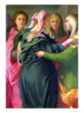 The Visitation, 1528-30 (Detail) Giclee Print by Jacopo da Carucci Pontormo
