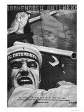 """Poster for Sergey Eisenstein's Film, """"Battleship Potemkin"""" Giclée-Druck"""