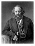 Portrait of Mikhail Aleksandrovich Bakunin circa 1860 Gicléedruk van  Nadar