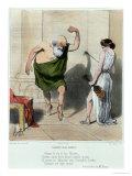 Socrates Visiting Aspasia Lámina giclée por Honore Daumier