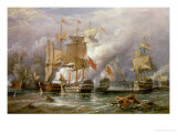 The Battle of Cape St. Vincent, 14th February 1797 Reproduction procédé giclée par Richard Bridges Beechey