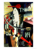 An Englishman in Moscow, 1913-14 Giclée-tryk af Kasimir Malevich