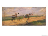 A Race Between Lallement Velocipedes, circa 1865 Giclee-trykk av Samuel Henry Gordon Alken