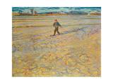 Sämann bei untergehender Sonne Giclée-Druck von Vincent van Gogh