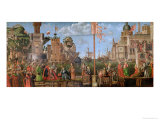 The Meeting of Etherius and Ursula and the Departure of the Pilgrims Giclée-tryk af Vittore Carpaccio