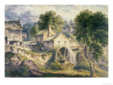 Mill in Bonsall Dale, Derbyshire Giclee Print by John Glover