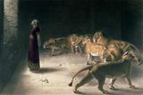 Daniel in the Lions Den, Mezzotint by J. B. Pratt, with Hand Colouring Giclée-Druck von Briton Rivière