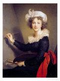 Self Portrait Giclee Print by Elisabeth Louise Vigee-LeBrun