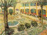 The Asylum Garden at Arles, c.1889 Giclée-Premiumdruck von Vincent van Gogh