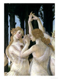 Primavera: Detail of Two of the Three Graces Impressão giclée por Sandro Botticelli