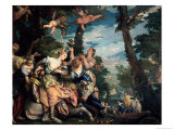 The Rape of Europa Giclée-tryk af Paolo Veronese