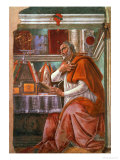 St.Augustine in His Cell, circa 1480 Reproduction procédé giclée par Sandro Botticelli
