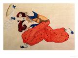A Study for a Figure of a Dancer for Scheherazade Giclee Print by Leon Bakst