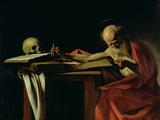 St. Jerome Writing, circa 1604 Giclée-Druck von  Caravaggio